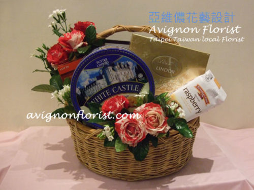 Gift Basket of Chocolates and cookies for Taiwan